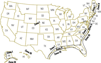 Us Wind Zone Map Wind Map | MHI | Manufactured Housing Institute